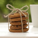 Homemade cookies at the garden Royalty Free Stock Photo