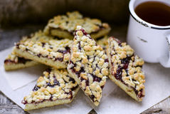 Homemade cookies, grated pie Royalty Free Stock Photos