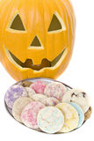 Homemade cookies for halloween Stock Images