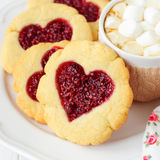 Homemade Cookies with Heart-Shaped Center Stock Images