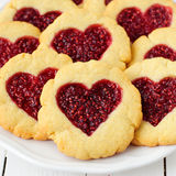 Homemade Cookies with Heart-Shaped Center Stock Photo