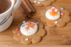 Homemade cookies with icing Stock Photo
