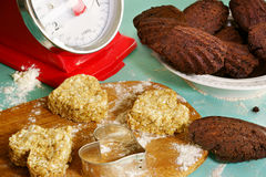 Homemade cookies and madeleines Stock Photos