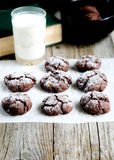 Homemade cookies and milk for breakfast Royalty Free Stock Photos