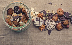 Homemade cookies and nuts Royalty Free Stock Photography