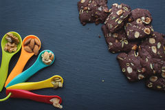 Homemade cookies and nuts mix Royalty Free Stock Image