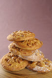 Homemade cookies with nuts Royalty Free Stock Photography