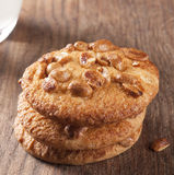Homemade cookies with nuts Stock Images