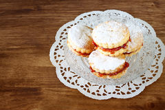 Homemade cookies on old wooden table Royalty Free Stock Photo