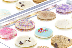 Homemade Cookies On Cooking Sheet Royalty Free Stock Images