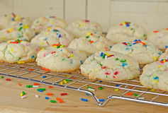 Homemade cookies with rainbow sprinkles Royalty Free Stock Photography