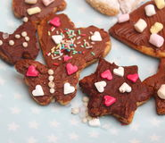 Homemade cookies. Some homemade cookies with chocolate and spinkles Stock Photography