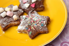 Homemade cookies. Some homemade christmas cookies with chocolate Royalty Free Stock Photography