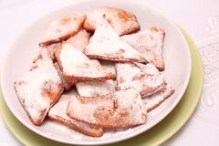 Homemade cookies. Some fresh homemade cookies with sugar royalty free stock photos