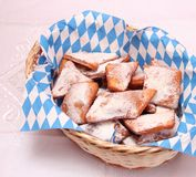 Homemade cookies. Some fresh homemade cookies with sugar Stock Images