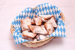 Homemade cookies. Some fresh homemade cookies with sugar royalty free stock image