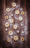 Homemade cookies in star shape Royalty Free Stock Photos
