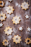 Homemade cookies in star shape Royalty Free Stock Image