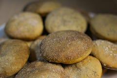 Homemade cookies with sugar, cinnamon and sesame.  Stock Photos