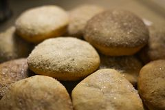 Homemade cookies with sugar, cinnamon and sesame.  Stock Photography