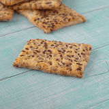 Homemade cookies with sunflower seeds and flax seed Stock Images