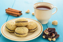 Homemade cookies and tea Royalty Free Stock Photo