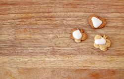 Homemade cookies top view Royalty Free Stock Photography