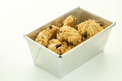 Homemade cookies in the tray. On white background Stock Image
