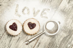 Homemade cookies Valentine's Day Stock Images
