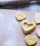 Homemade cookies for Valentine. Stock Photo