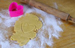 Homemade cookies for Valentine. Stock Images