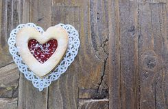 Homemade cookies for Valentine. Royalty Free Stock Photos