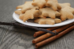 Homemade cookies with vanilla and cinnamon Royalty Free Stock Images