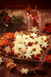 Homemade cookies in vintage look for Christmas Stock Images