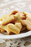 Homemade cookies on white plate Stock Image