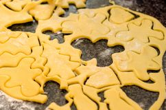 Homemade cooking christmas cookies stock image