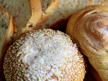 Homemade cooking made from whole wheat and grains with breads. Homemade cooking made from whole wheat and grains with bread and white saesame Royalty Free Stock Photos