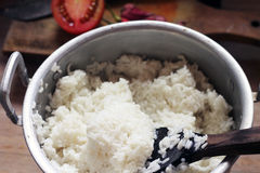 Homemade cooking rice Royalty Free Stock Images