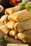 Homemade Corn and Chicken Tamales Royalty Free Stock Photos