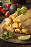 Homemade Corn and Chicken Tamales Stock Image