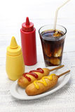 Homemade corn dogs Stock Images