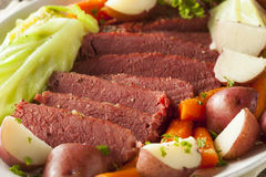 Homemade Corned Beef And Cabbage Royalty Free Stock Photos