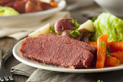 Homemade Corned Beef And Cabbage Royalty Free Stock Photo