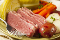 Homemade Corned Beef and Cabbage Royalty Free Stock Photography