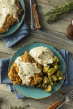 Homemade Country Fried Steak Stock Photos