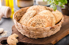 Homemade crackers with cumin Stock Image