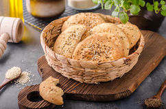 Homemade crackers with cumin Stock Images