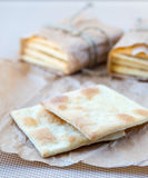 Homemade crackers Stock Images