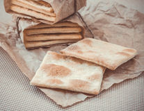Homemade crackers Royalty Free Stock Image