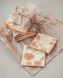 Homemade crackers Royalty Free Stock Images